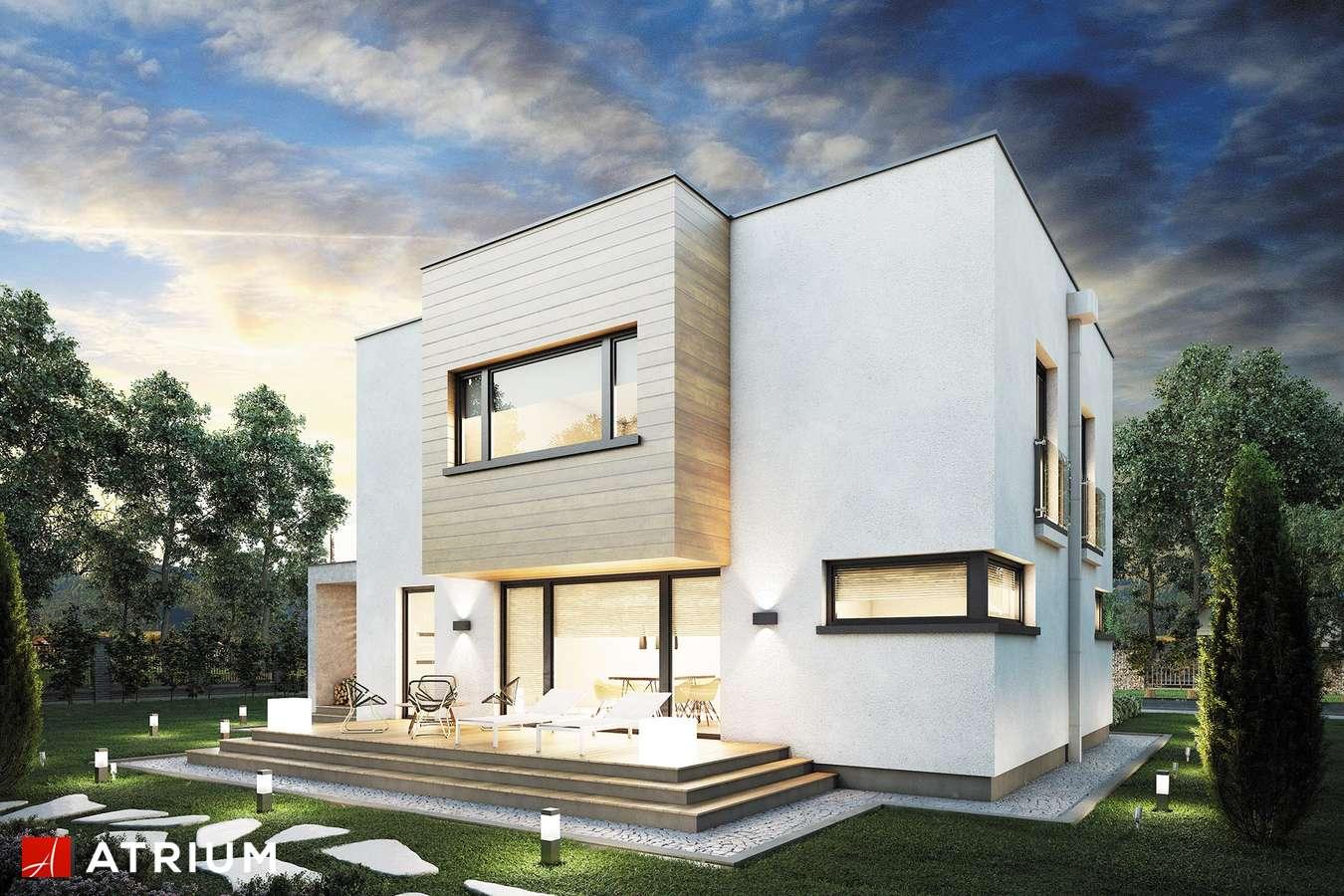 Projekty domów - Projekt domu piętrowego QUBUS II - wizualizacja 2 - wersja lustrzana