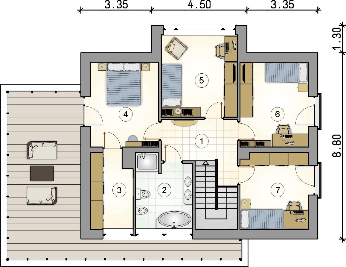 rzut piętra - projekt Qubus II