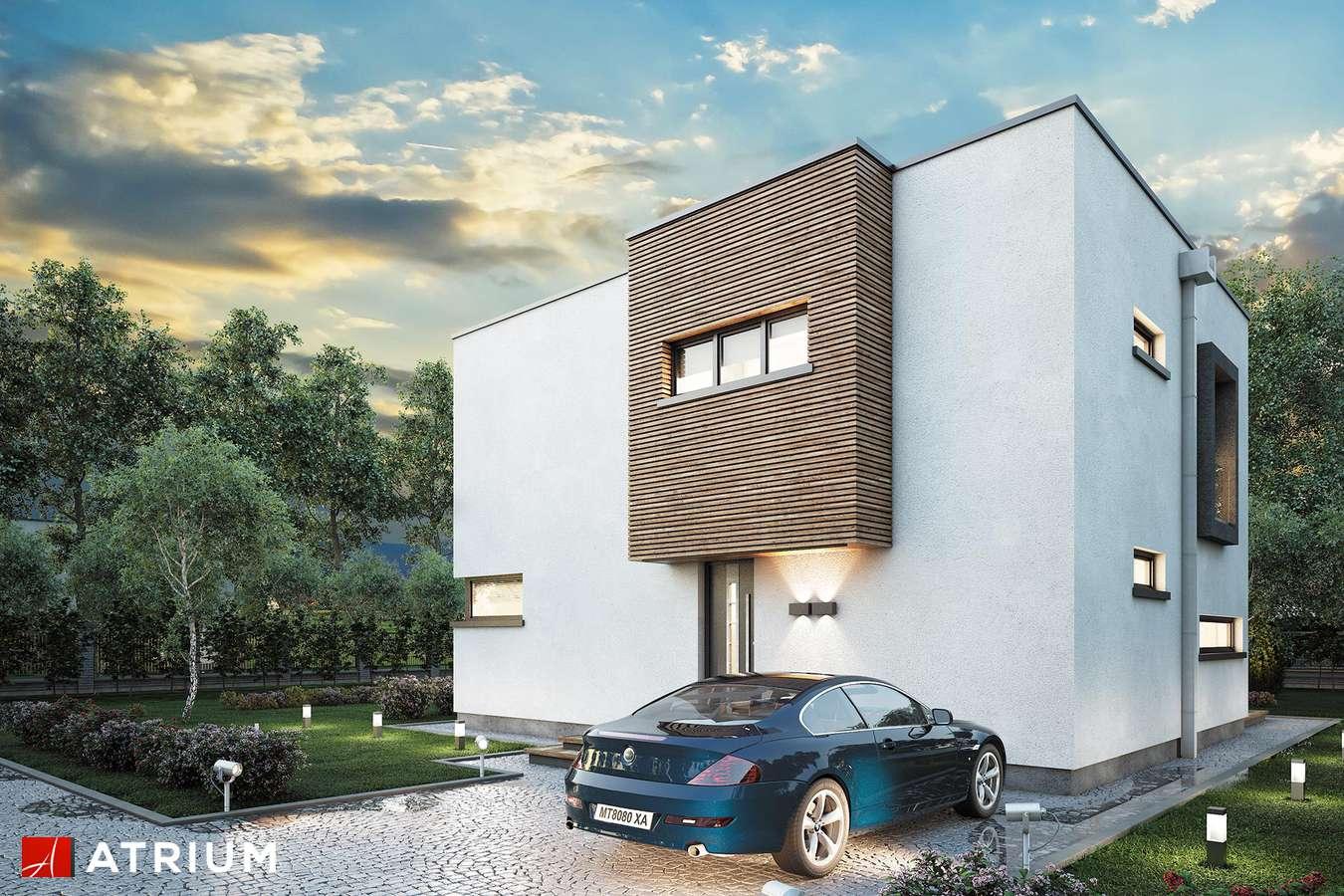 Projekty domów - Projekt domu piętrowego QUBUS - wizualizacja 1 - wersja lustrzana