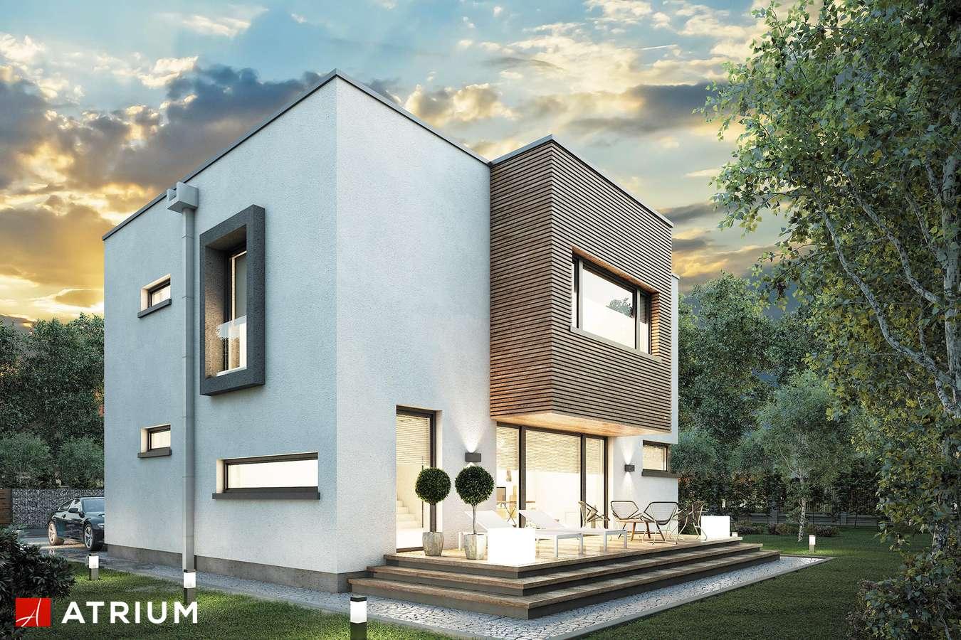 Projekty domów - Projekt domu piętrowego QUBUS - wizualizacja 2 - wersja lustrzana