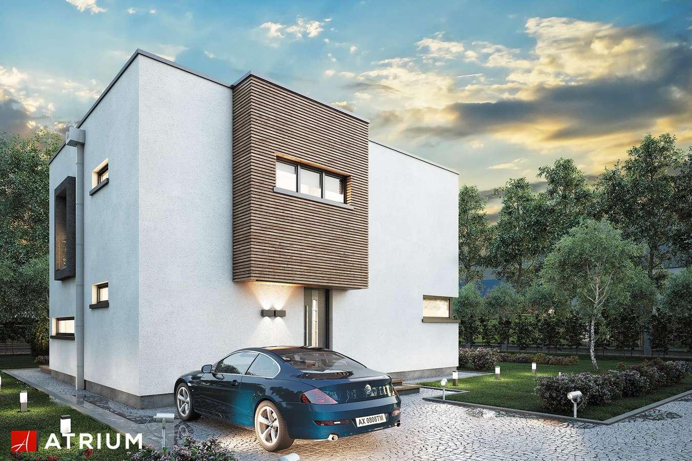 Projekty domów - Projekt domu piętrowego QUBUS - wizualizacja 1