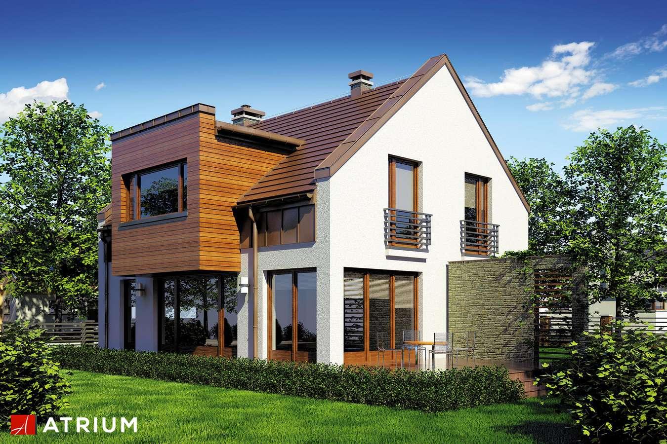 Projekty domów - Projekt domu z poddaszem WENA - wizualizacja 1 - wersja lustrzana