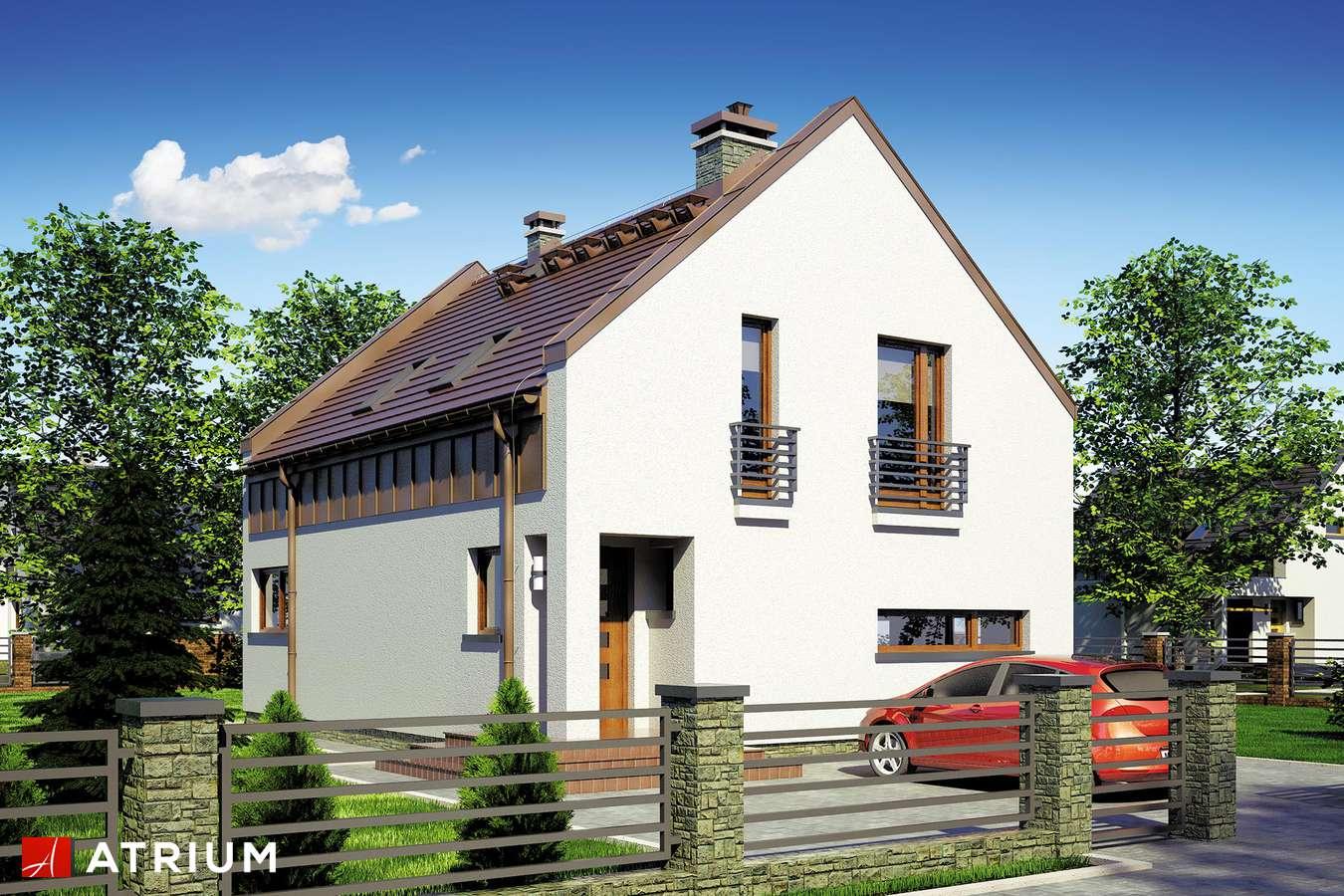 Projekty domów - Projekt domu z poddaszem WENA - wizualizacja 2 - wersja lustrzana