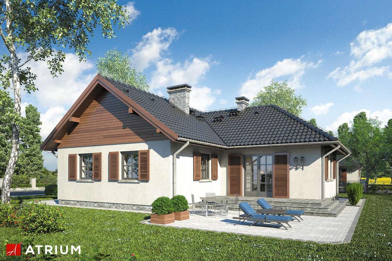 Projekty domów - Projekt domu parterowego EWKA - wizualizacja 2