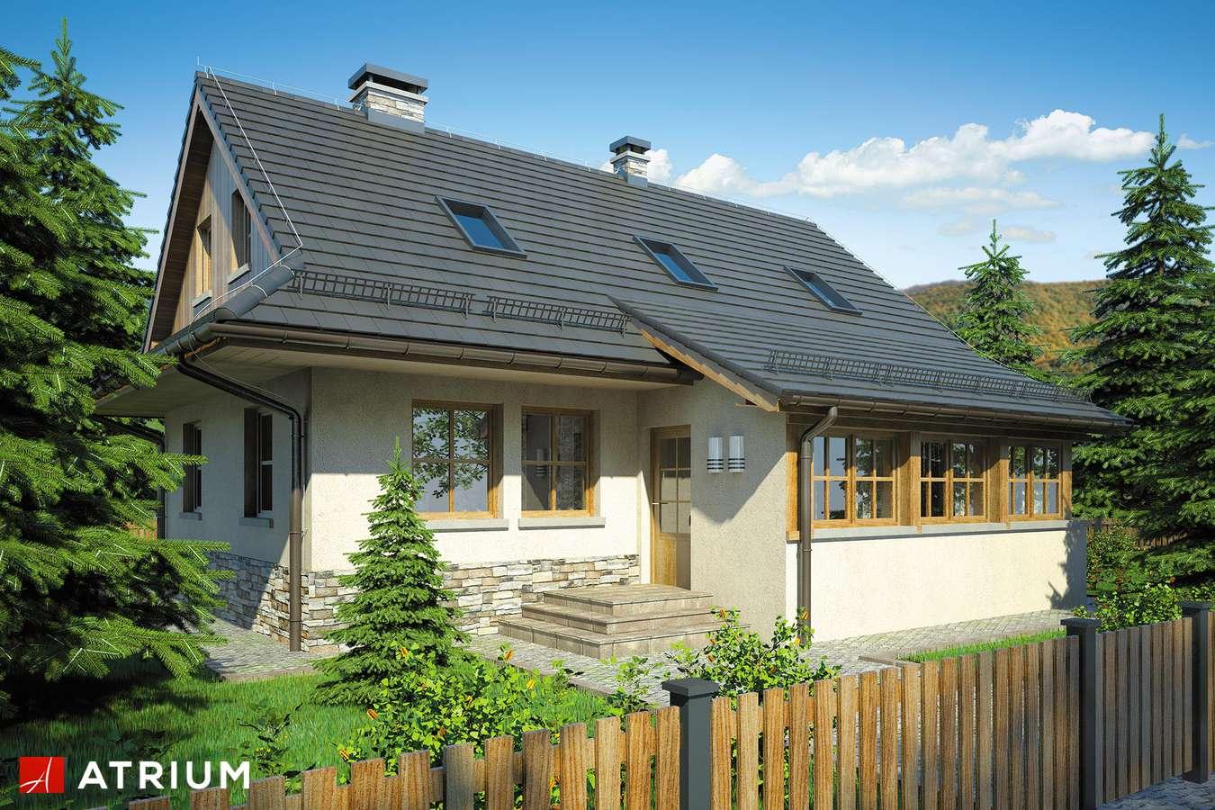 Projekty domów - Projekt domu z poddaszem DOM BACY - wizualizacja 1