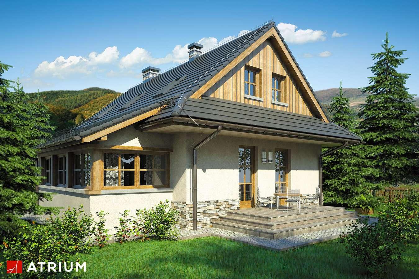 Projekty domów - Projekt domu z poddaszem DOM BACY - wizualizacja 2