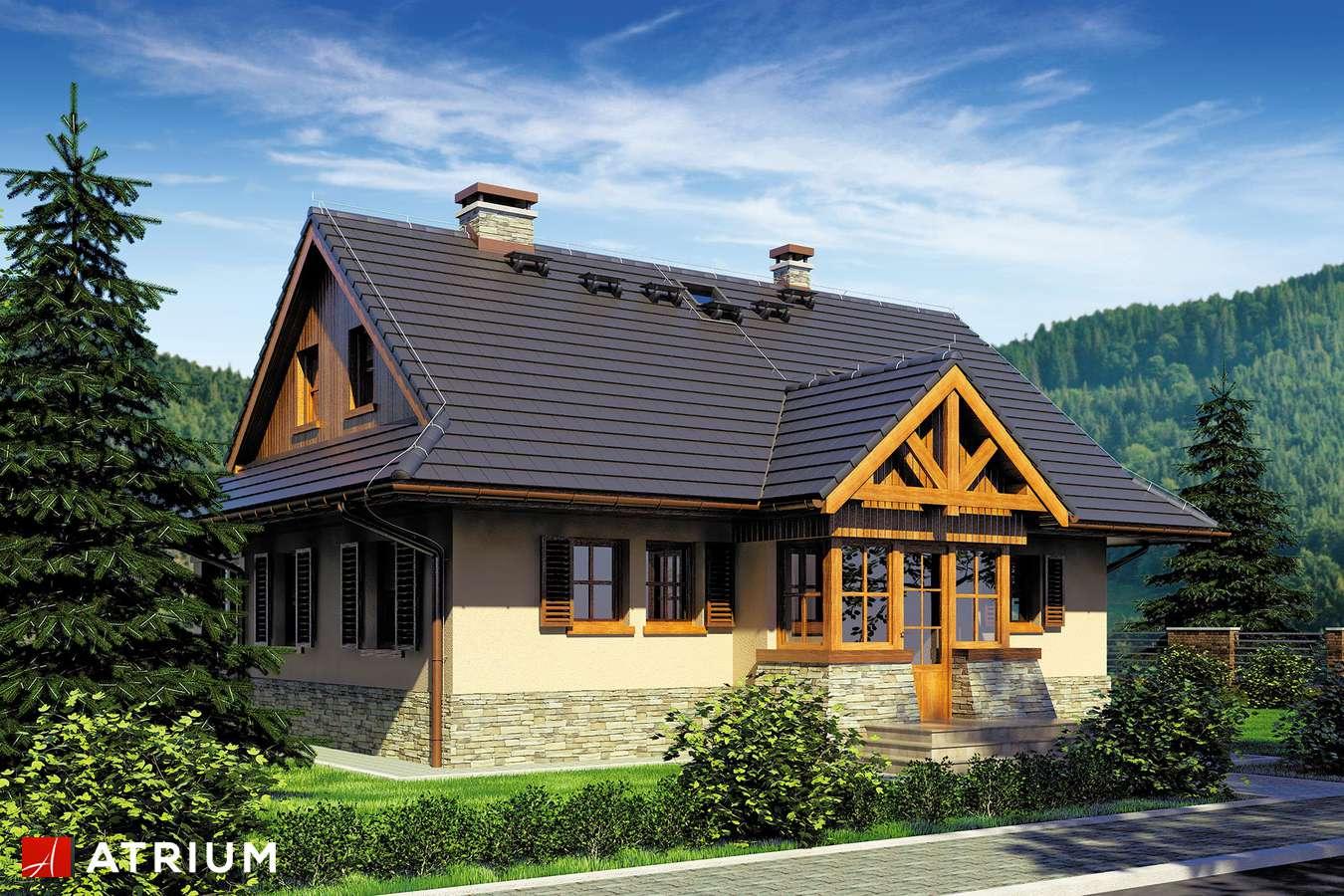 Projekty domów - Projekt domu z poddaszem MARZANKA - wizualizacja 1