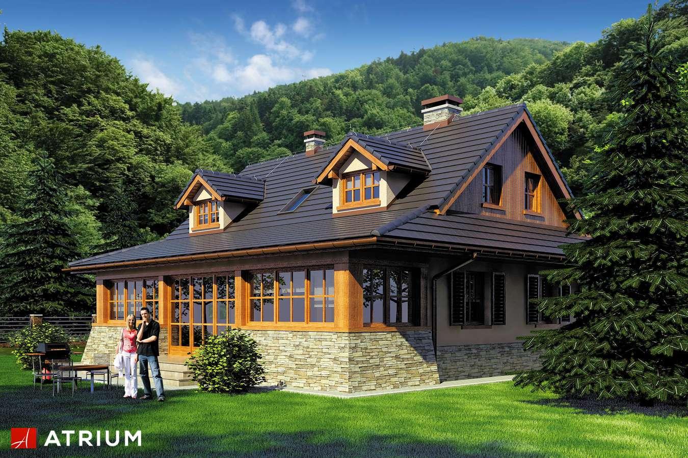 Projekty domów - Projekt domu z poddaszem MARZANKA - wizualizacja 2
