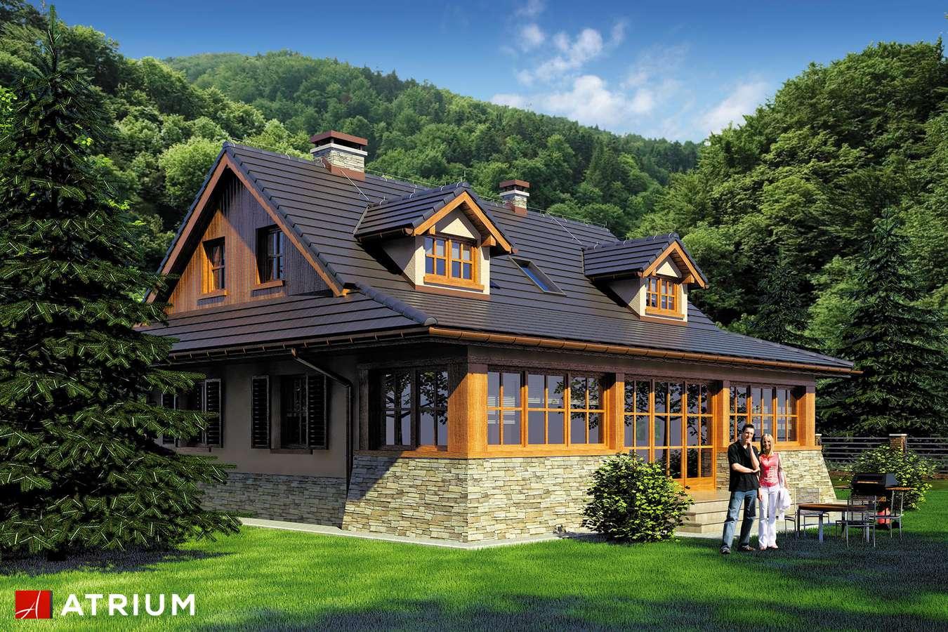 Projekty domów - Projekt domu z poddaszem MARZANKA - wizualizacja 2 - wersja lustrzana