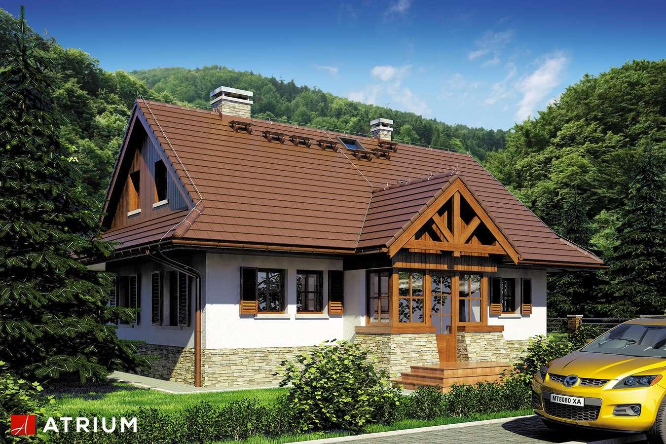 Projekty domów - Projekt domu z poddaszem WIDOK - wizualizacja 1