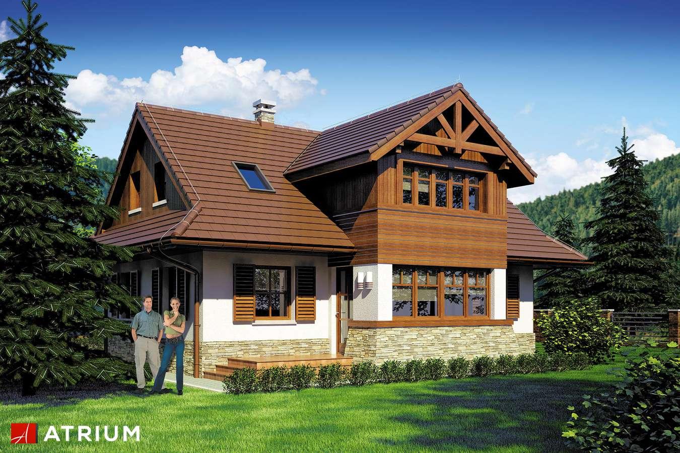 Projekty domów - Projekt domu z poddaszem WIDOK - wizualizacja 2