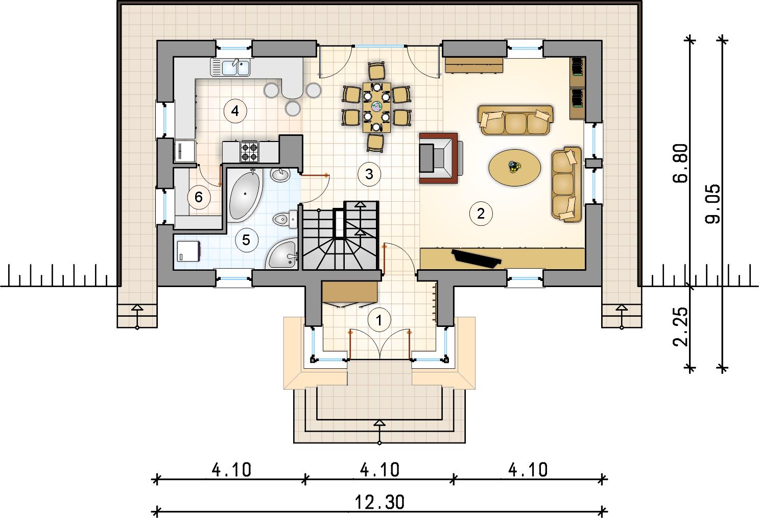 Rzut piętra - Kaskada