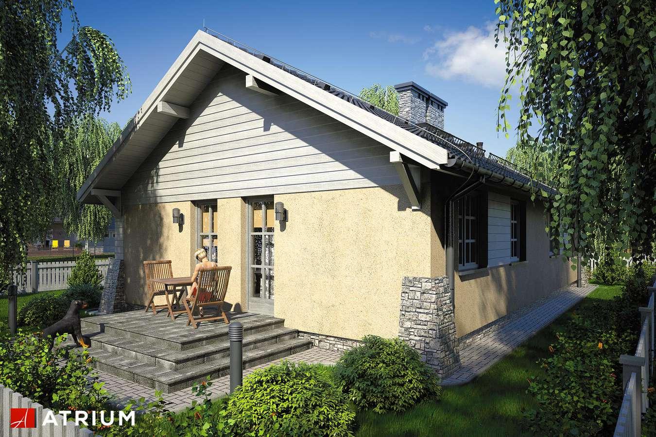Projekty domów - Projekt domu parterowego ŚWIT - wizualizacja 2