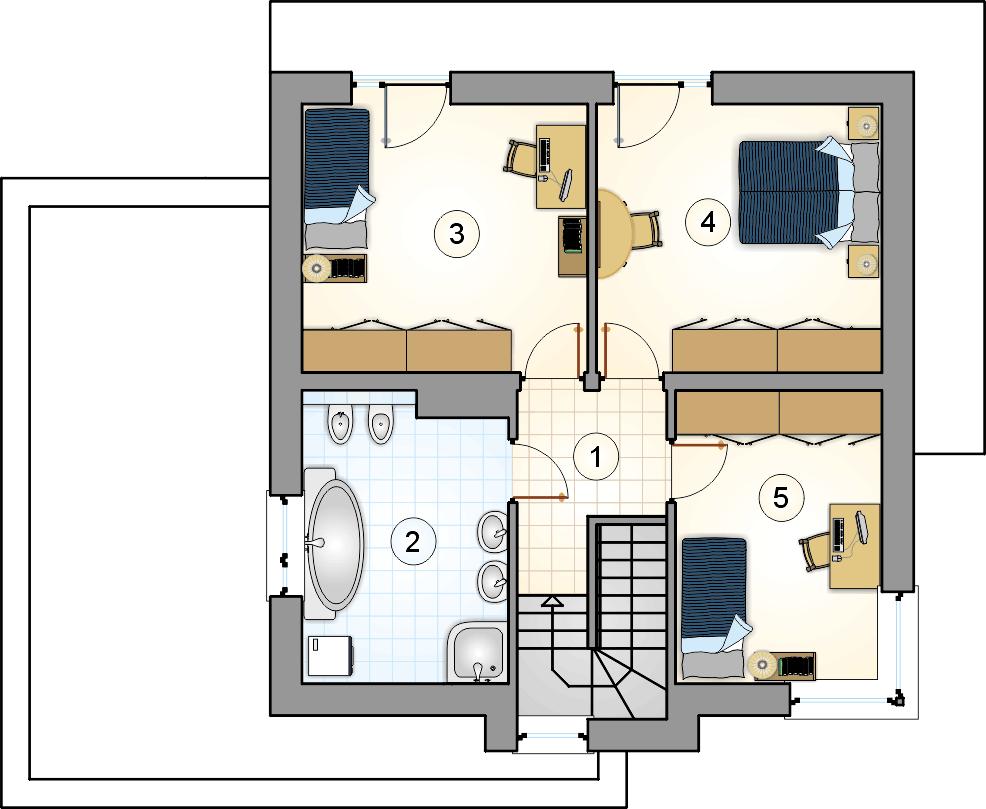 Rzut piętra - projekt Piccolo II