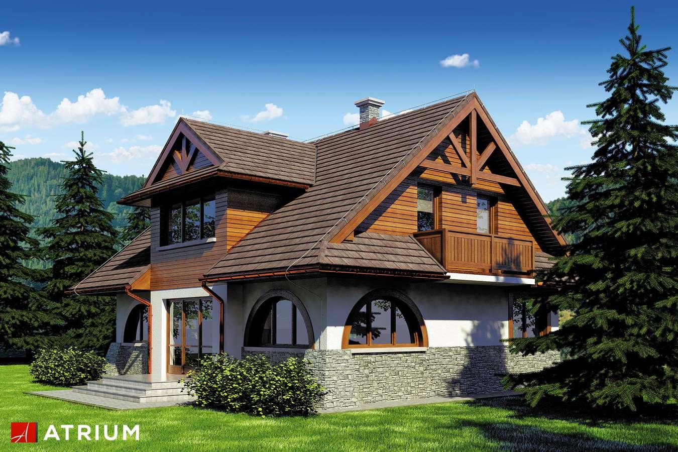 Projekty domów - Projekt domu z poddaszem WATRA - wizualizacja 1 - wersja lustrzana