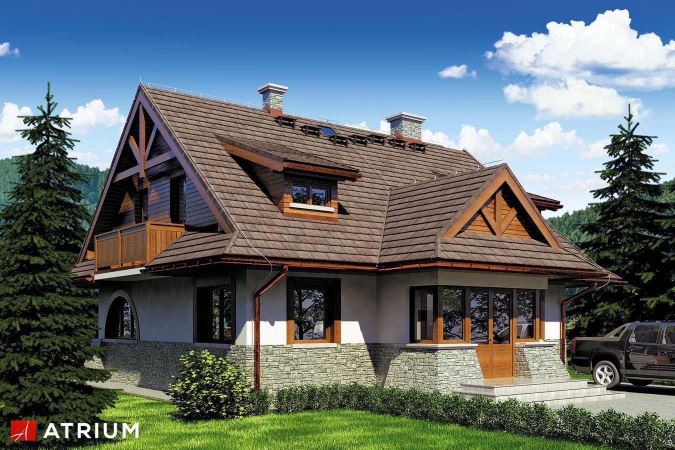Projekty domów - Projekt domu z poddaszem WATRA - wizualizacja 2 - wersja lustrzana