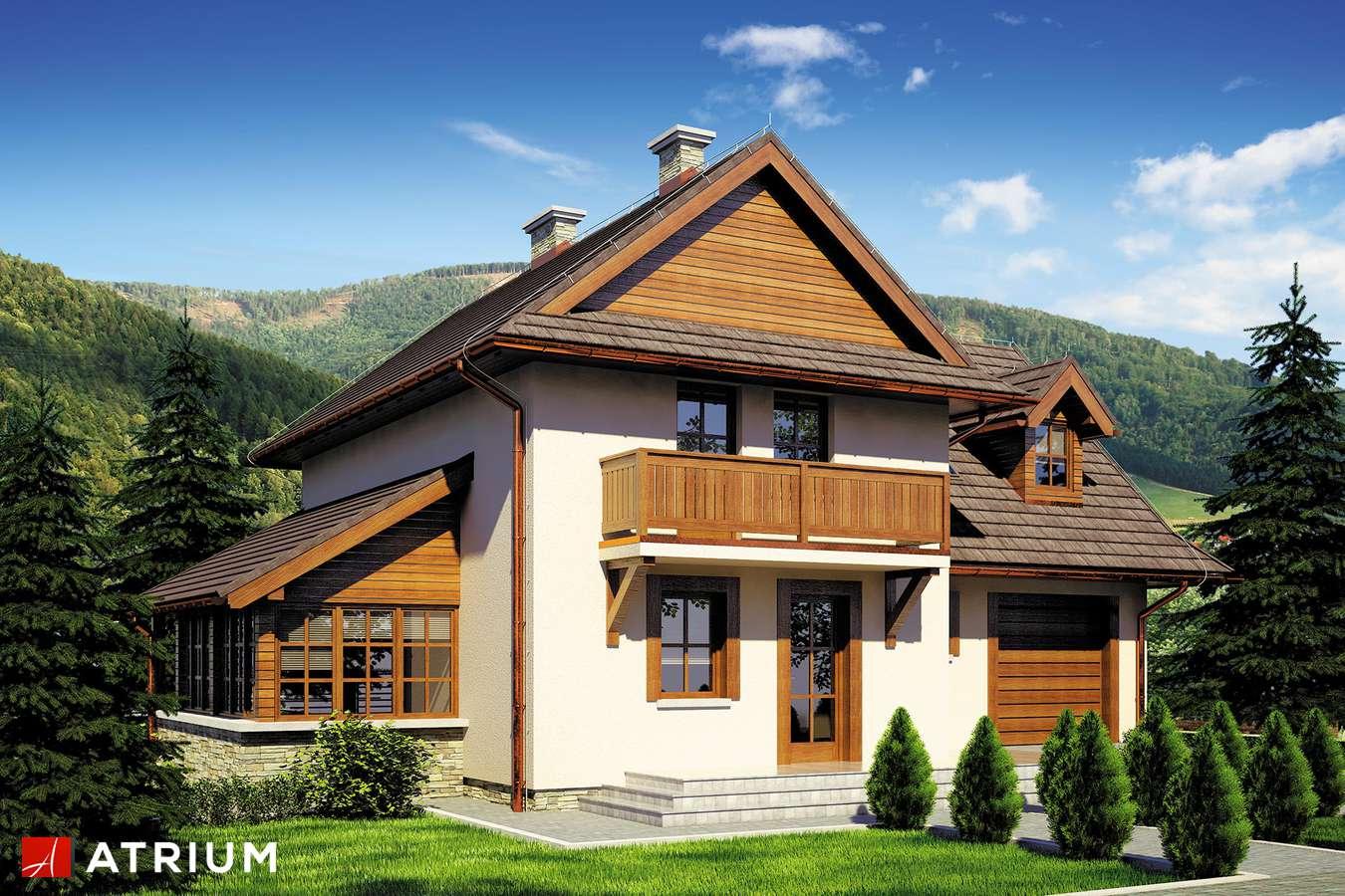Projekty domów - Projekt domu piętrowego BUKOWA CHATA - wizualizacja 1