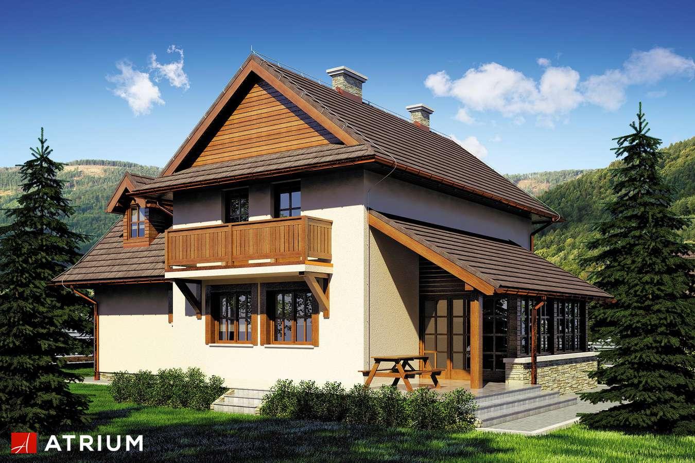Projekty domów - Projekt domu piętrowego BUKOWA CHATA - wizualizacja 2