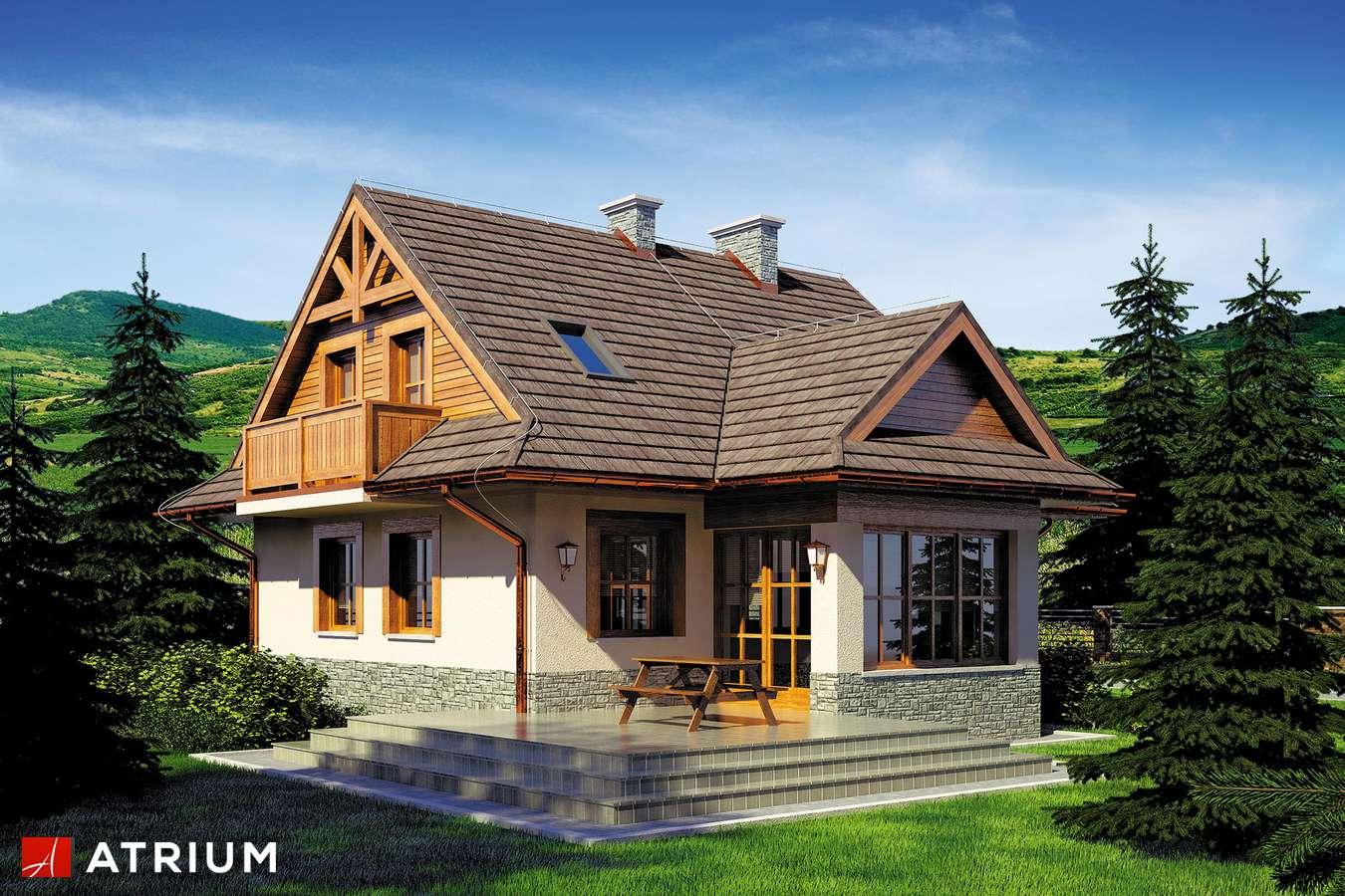 Projekty domów - Projekt domu z poddaszem CHATA POD JAWOREM - wizualizacja 2