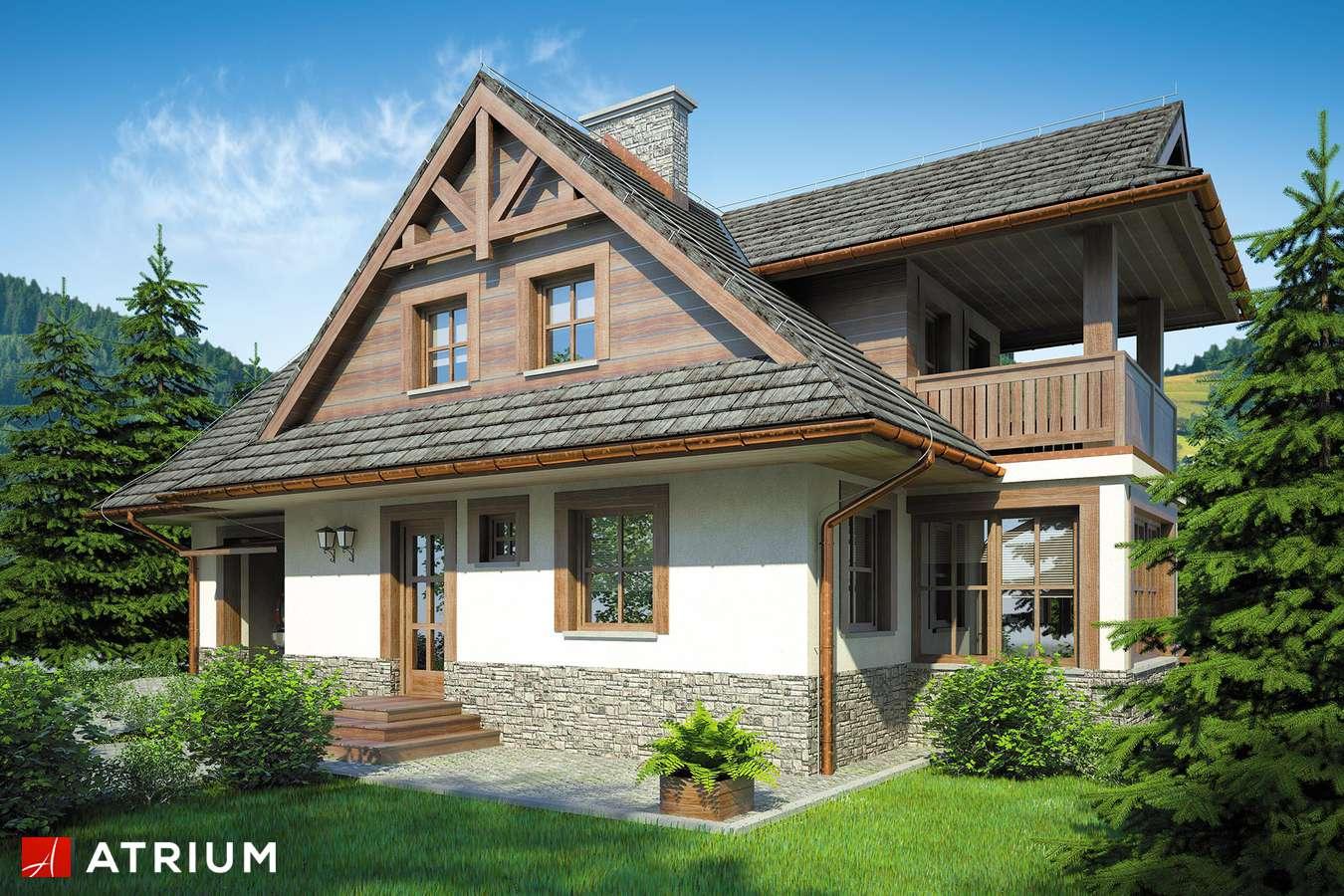 Projekty domów - Projekt domu z poddaszem SMREK II - wizualizacja 1 - wersja lustrzana