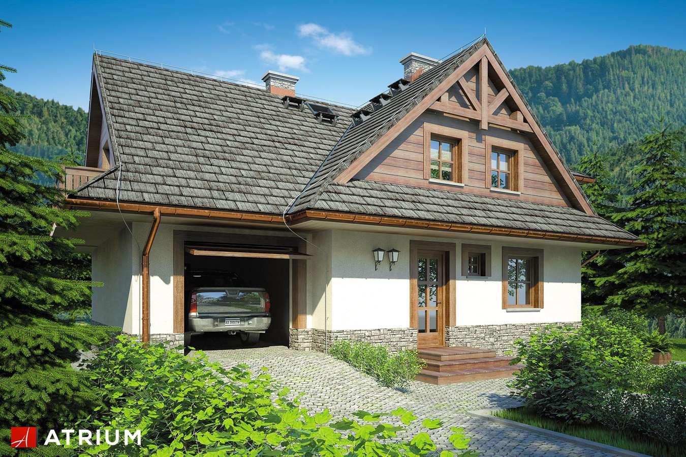 Projekty domów - Projekt domu z poddaszem SMREK II - wizualizacja 2 - wersja lustrzana