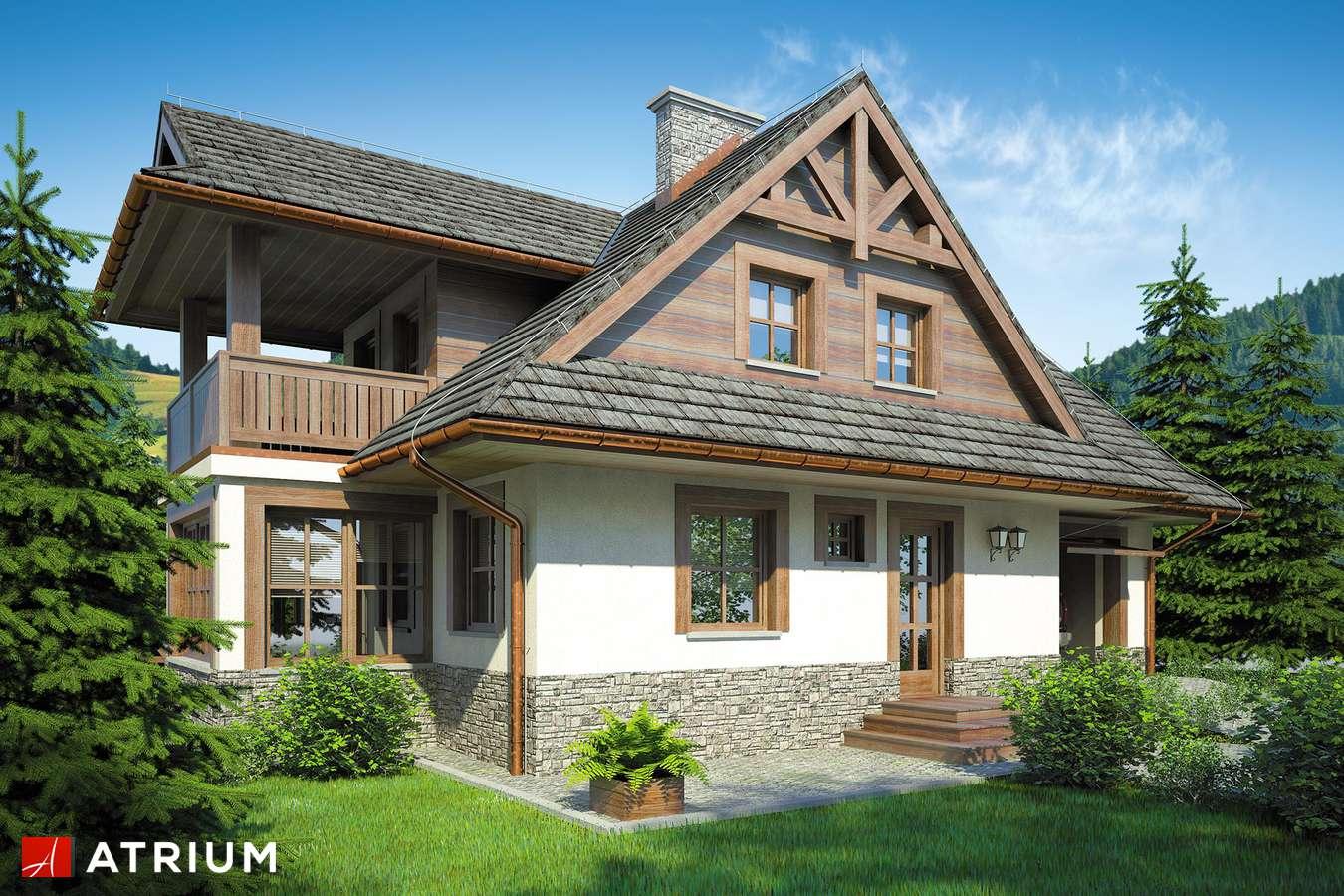Projekty domów - Projekt domu z poddaszem SMREK II - wizualizacja 1
