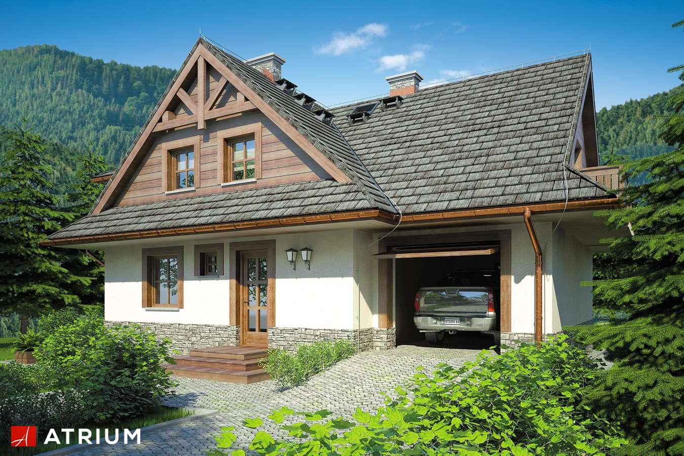 Projekty domów - Projekt domu z poddaszem SMREK II - wizualizacja 2