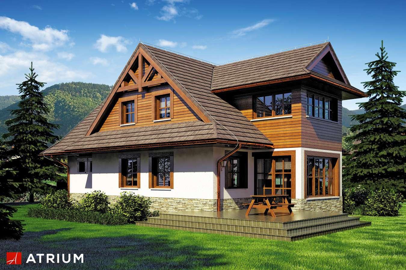 Projekty domów - Projekt domu z poddaszem SMREK - wizualizacja 1