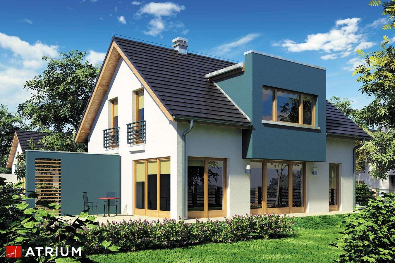 Projekty domów - Projekt domu z poddaszem WEGA - wizualizacja 1