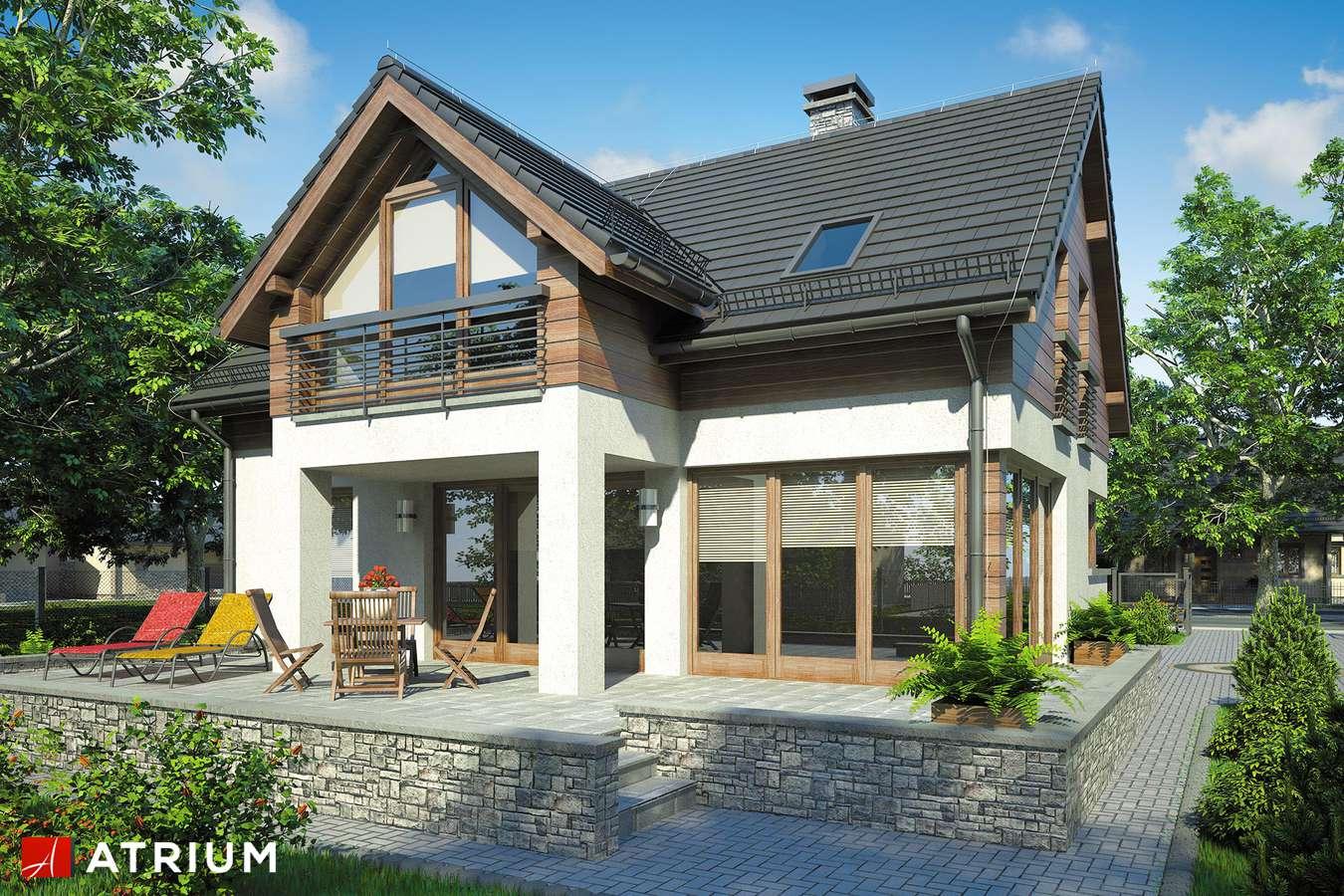 Projekty domów - Projekt domu z poddaszem SAMBA II - wizualizacja 2