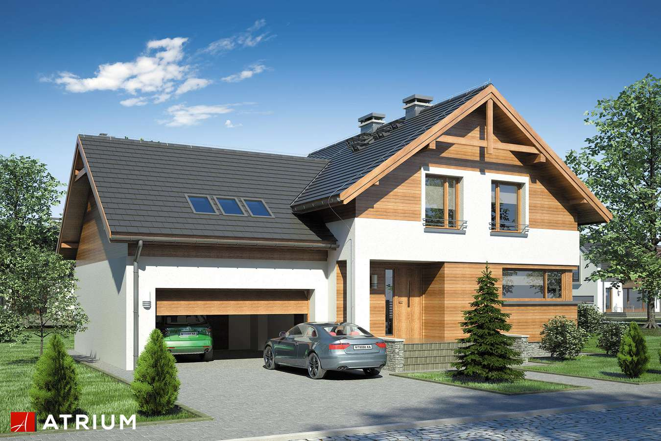 Projekty domów - Projekt domu z poddaszem JUPITER - wizualizacja 1