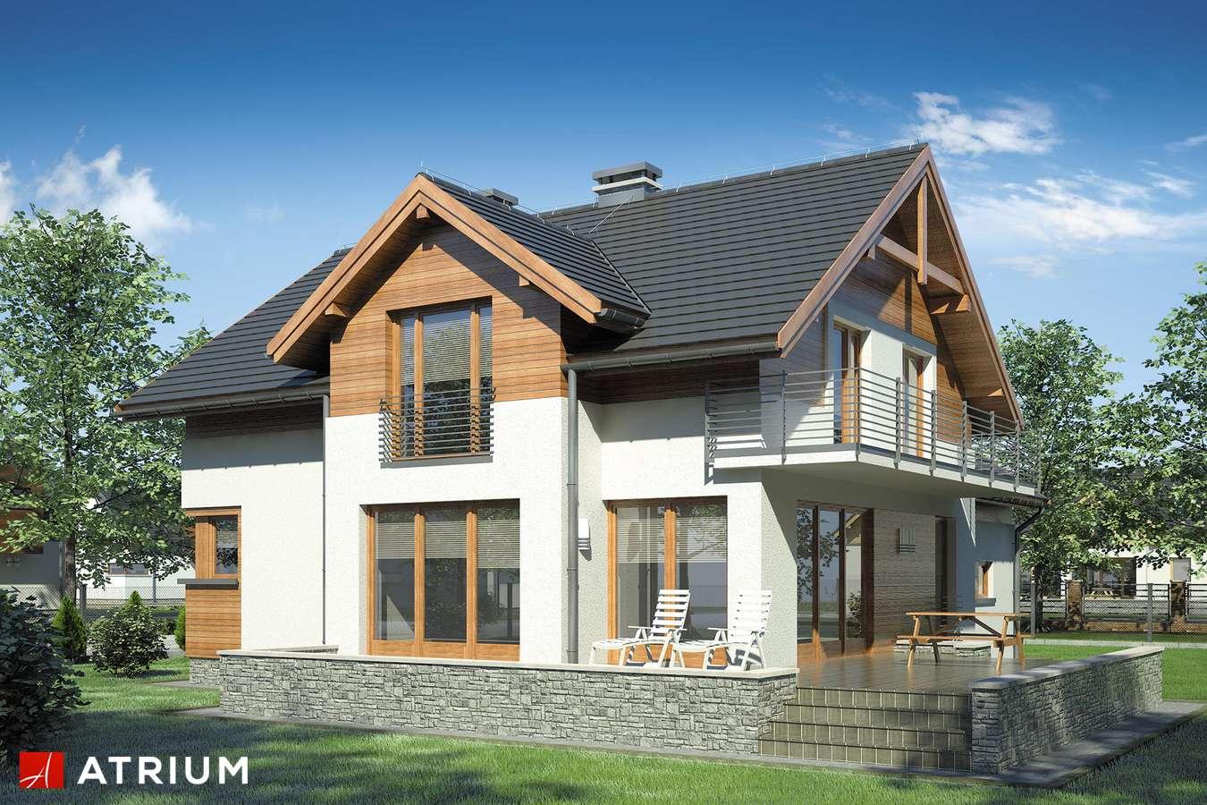Projekty domów - Projekt domu z poddaszem JUPITER - wizualizacja 2