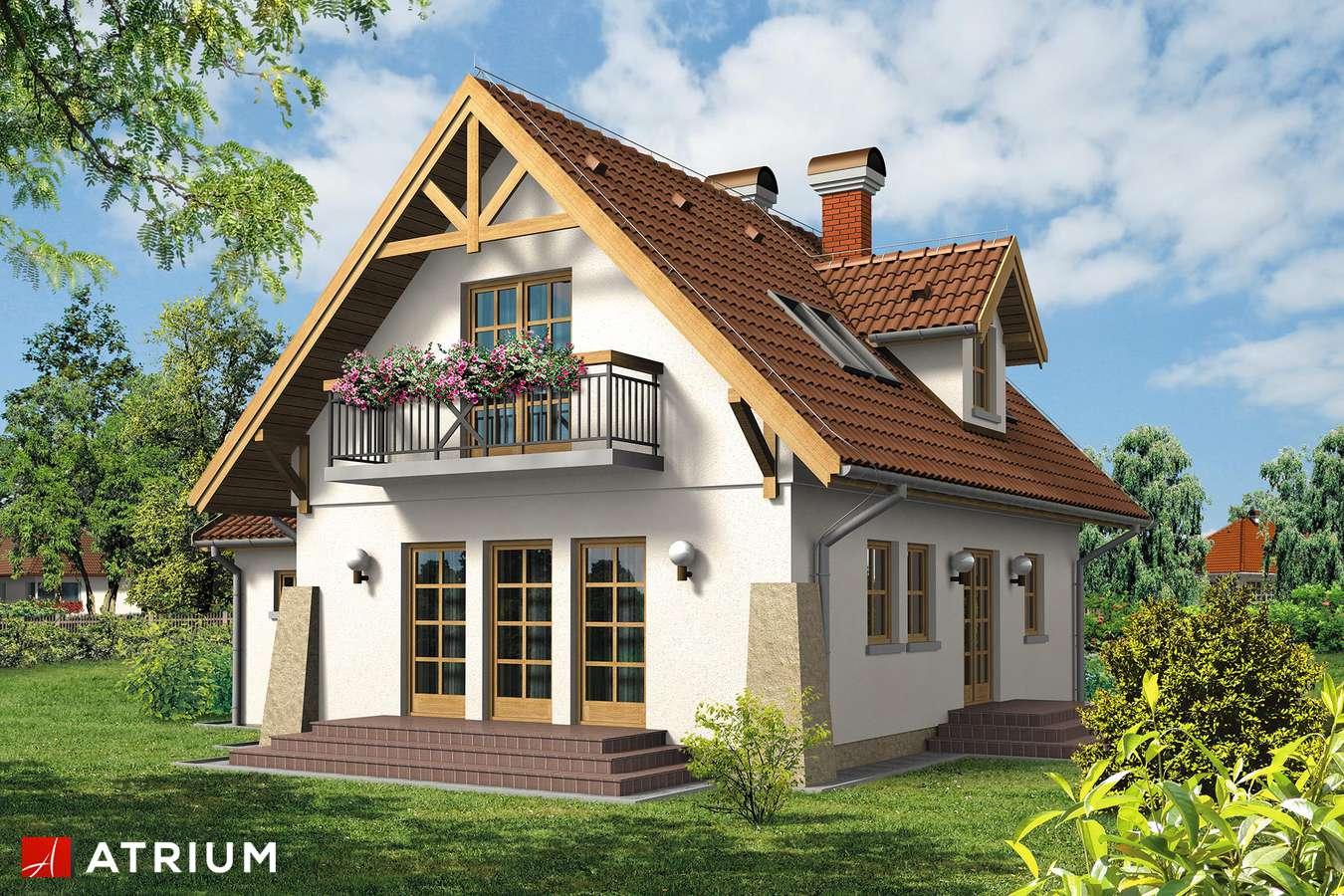 Projekty domów - Projekt domu z poddaszem TOMCIO PALUCH - wizualizacja 2