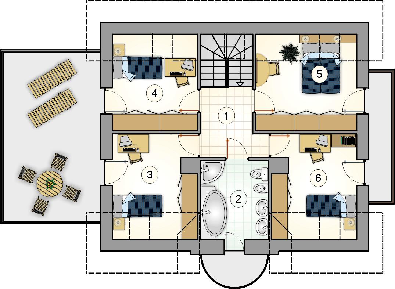 Rzut poddasza - projekt Zoja III