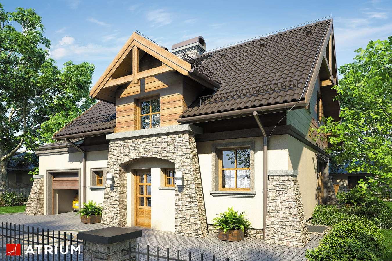 Projekty domów - Projekt domu z poddaszem PORTO IV - wizualizacja 1