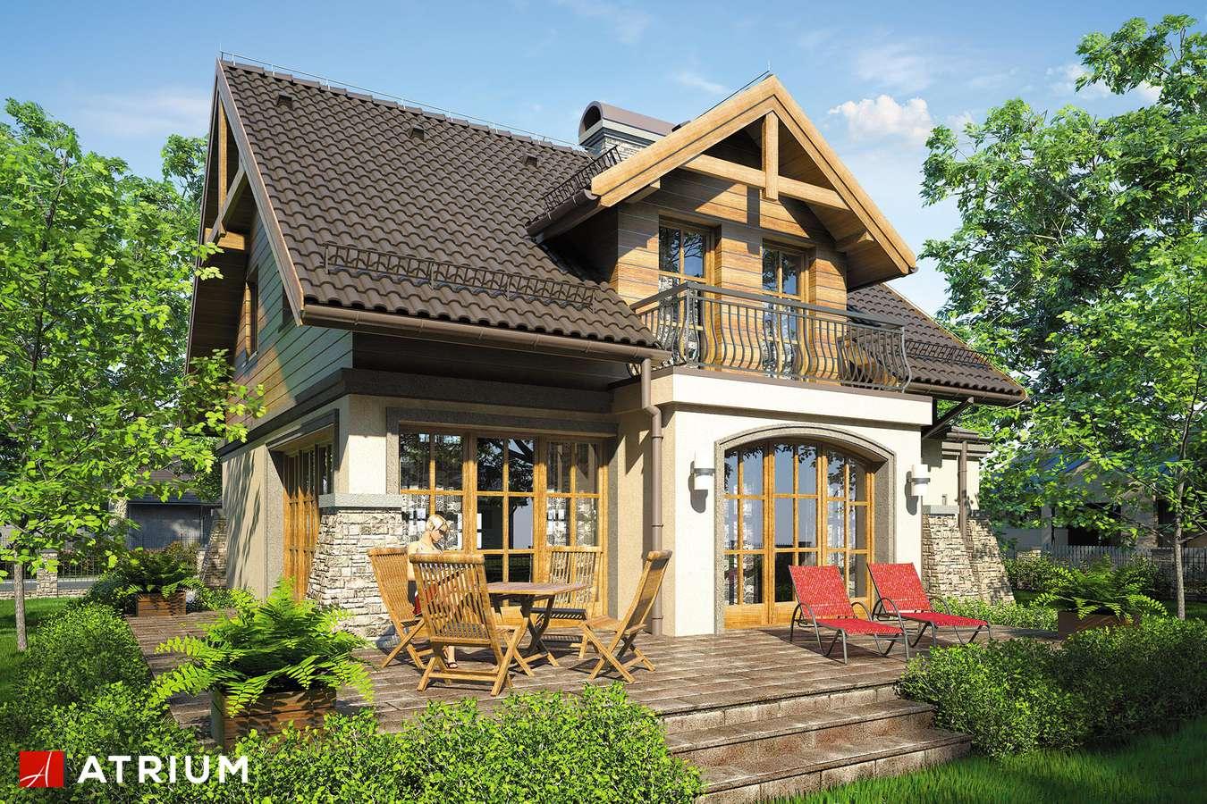 Projekty domów - Projekt domu z poddaszem PORTO IV - wizualizacja 2