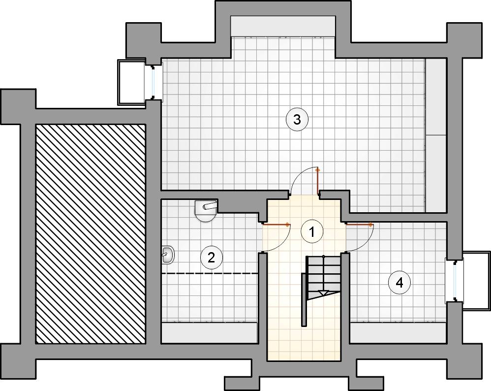 Rzut piwnicy - projekt Porto IV