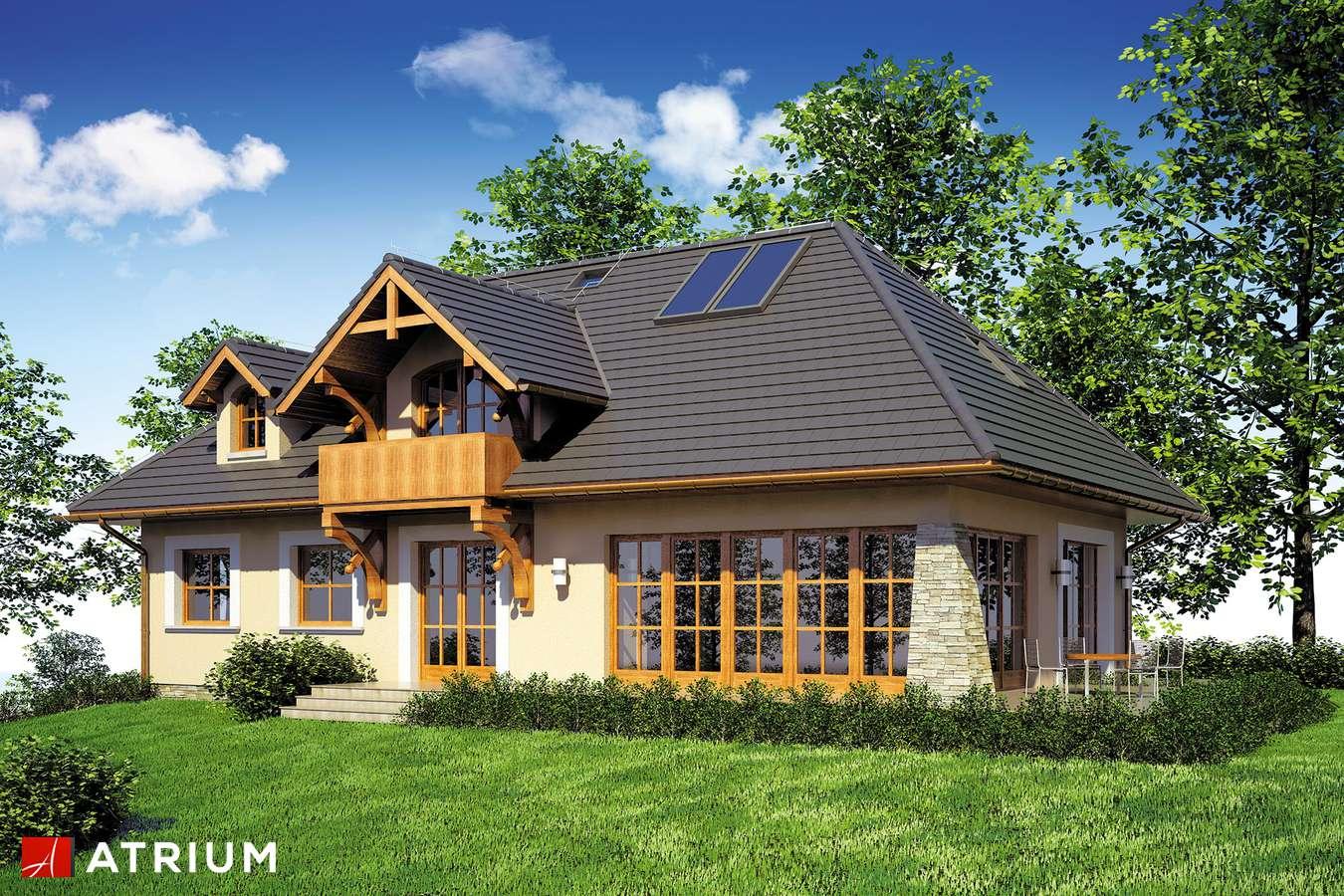 Projekty domów - Projekt domu z poddaszem TEDDY II - wizualizacja 1