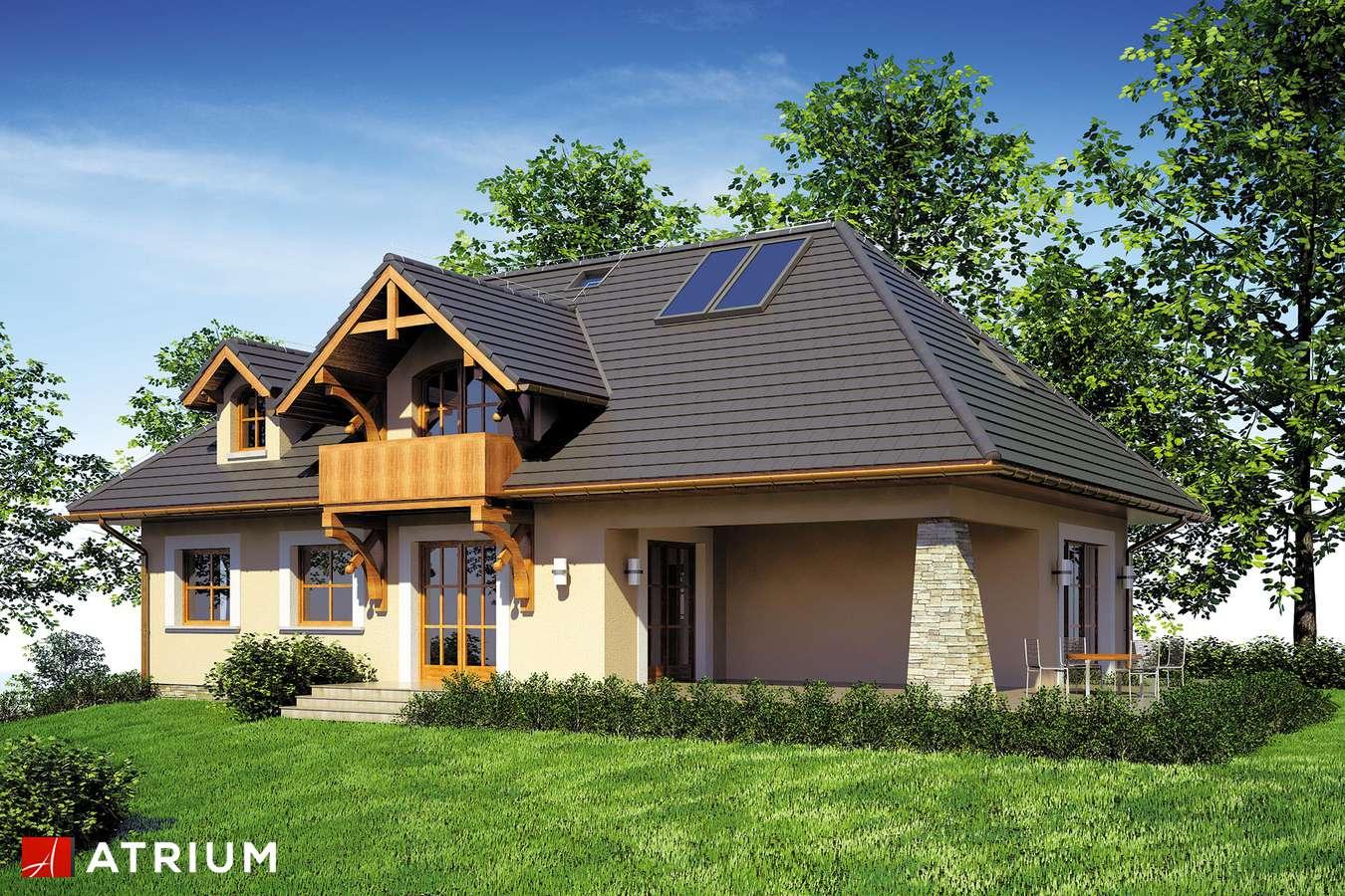 Projekty domów - Projekt domu z poddaszem TEDDY - wizualizacja 2