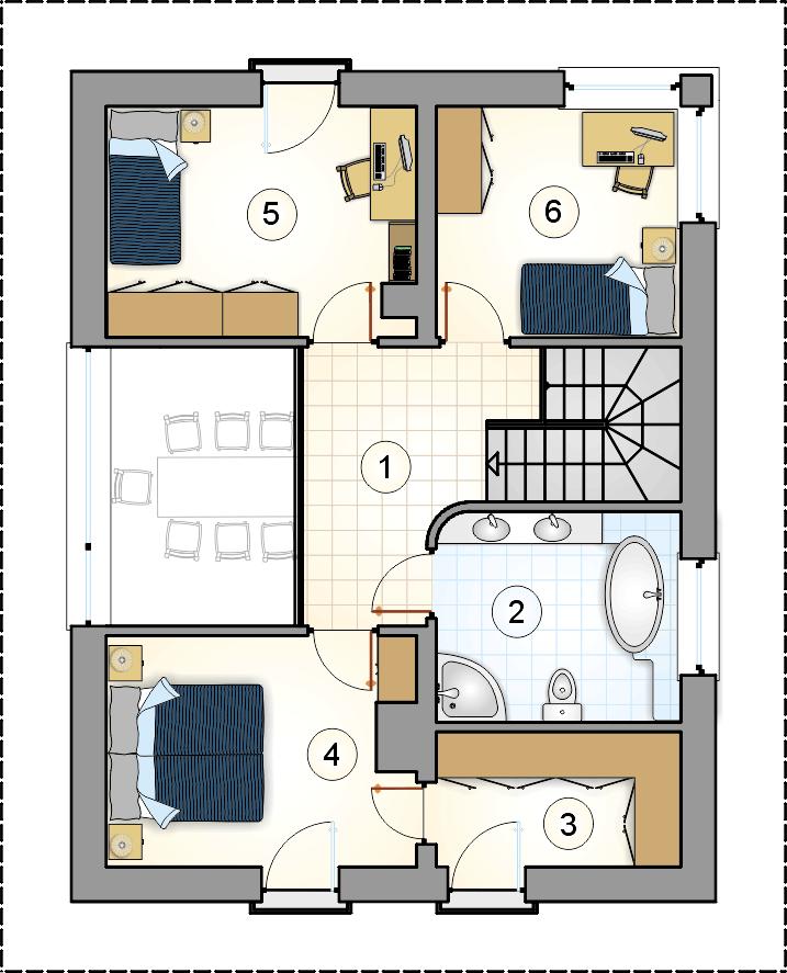 Rzut piętra - projekt Milano