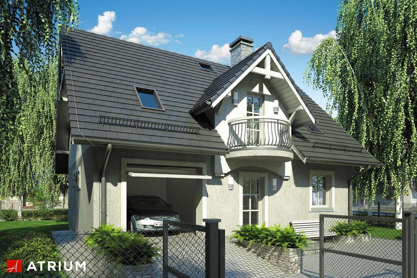 Projekty domów - Projekt domu z poddaszem COMPACT HOUSE - wizualizacja 1