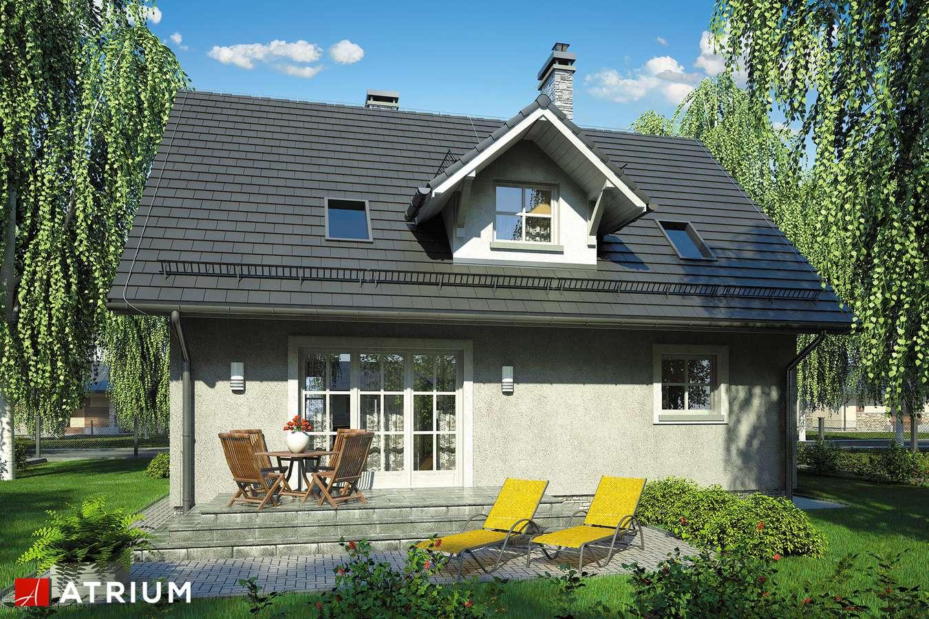 Projekty domów - Projekt domu z poddaszem COMPACT HOUSE - wizualizacja 2