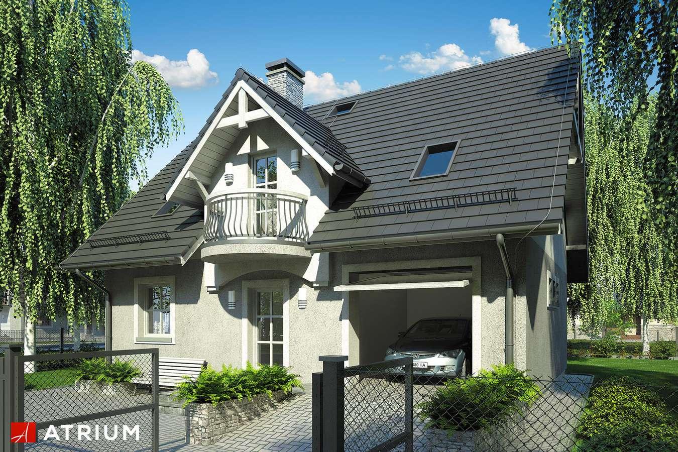 Projekty domów - Projekt domu z poddaszem COMPACT HOUSE - wizualizacja 1 - wersja lustrzana