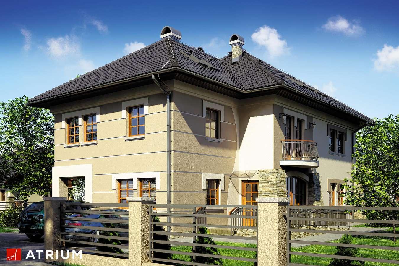 Projekty domów - Projekt domu z poddaszem VILLA MEDICA II - wizualizacja 1
