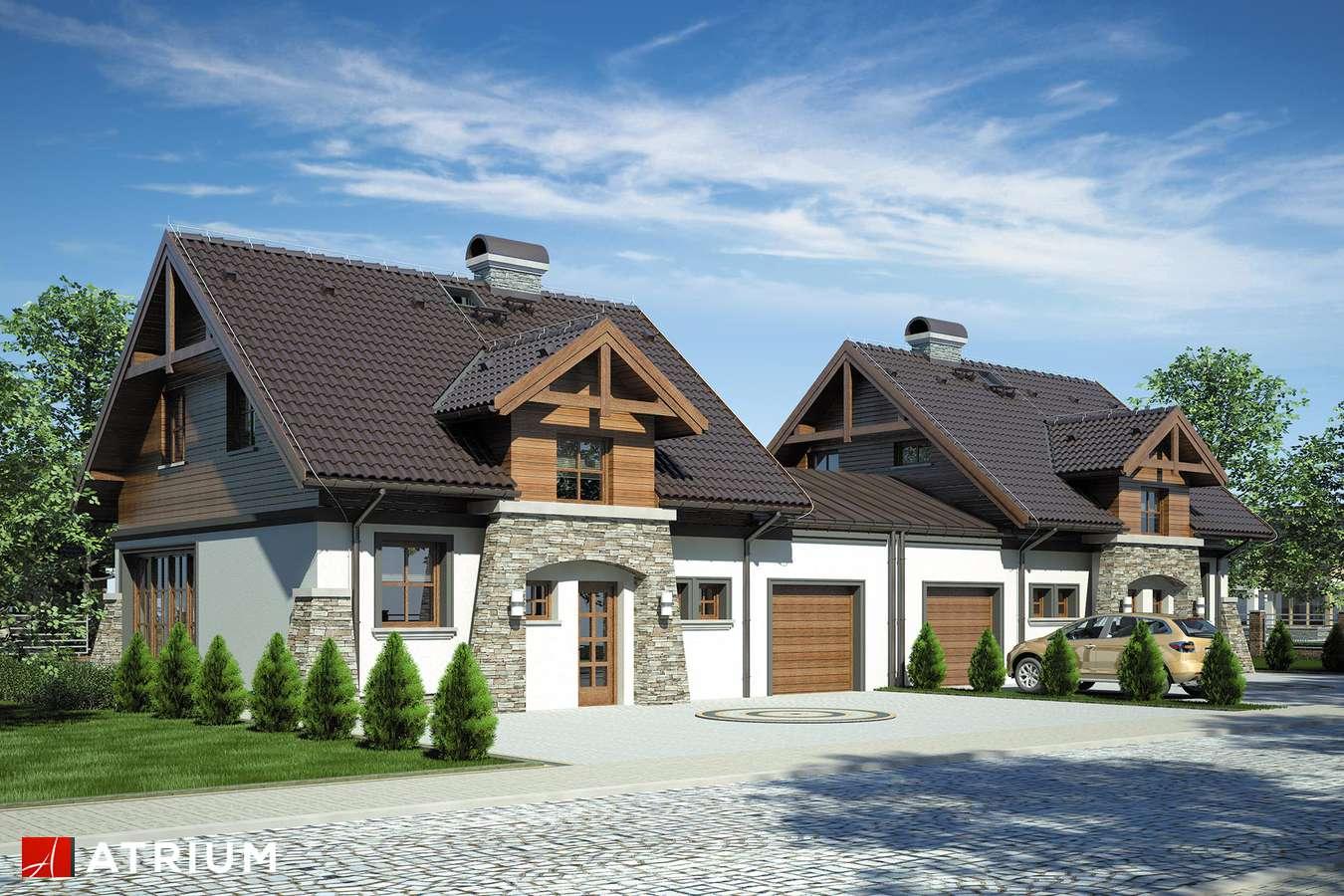 Projekty domów - Projekt domu z poddaszem PORTO DUO - wizualizacja 1
