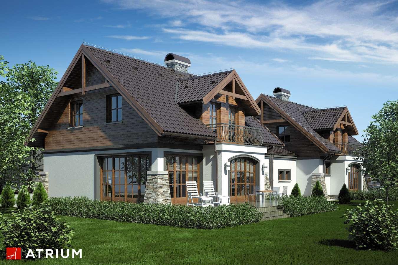 Projekty domów - Projekt domu z poddaszem PORTO DUO - wizualizacja 2