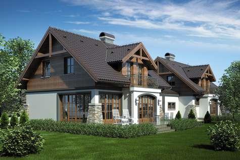 Projekt domu z poddaszem PORTO DUO - wizualizacja 2
