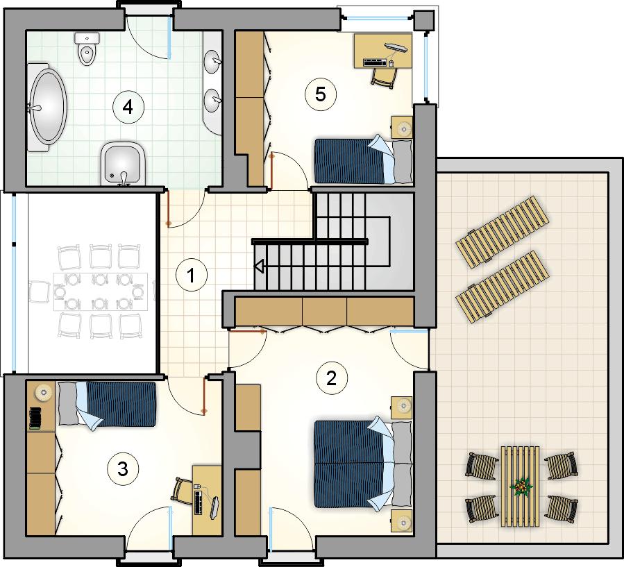 Rzut piętra - projekt Domus III