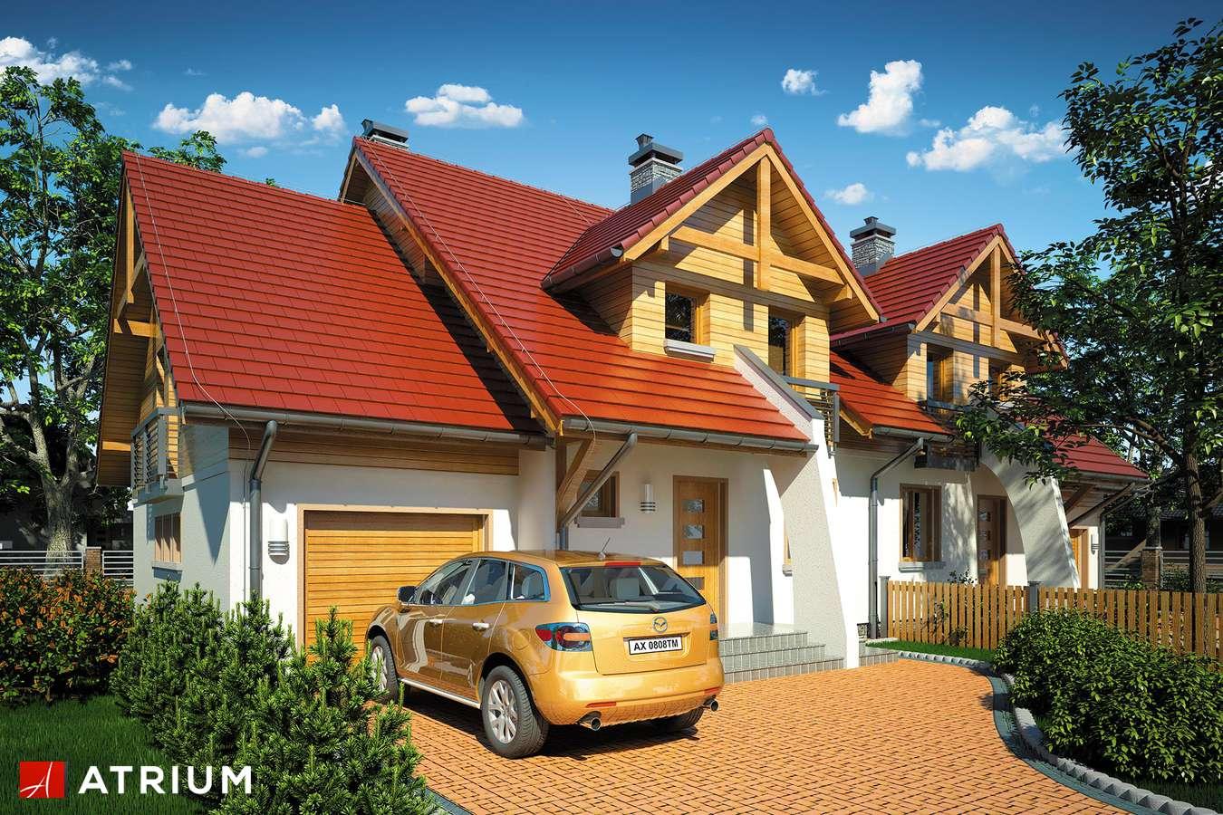 Projekty domów - Projekt domu z poddaszem FOKSTROT DUO II - wizualizacja 1