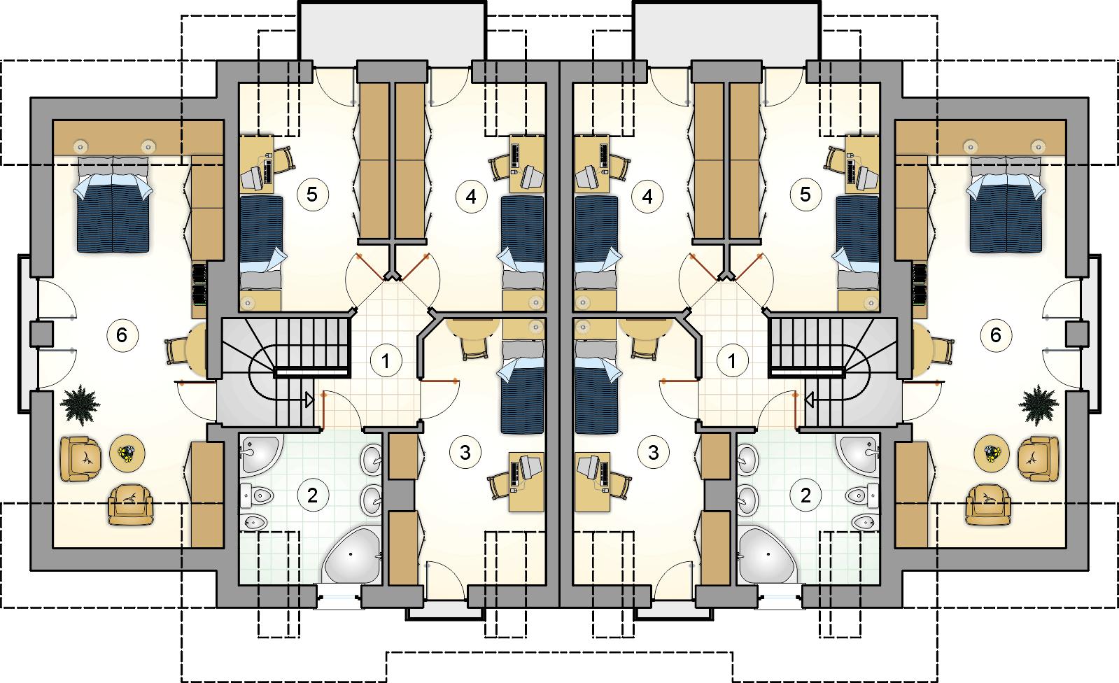 Rzut poddasza - projekt Fokstrot Duo II
